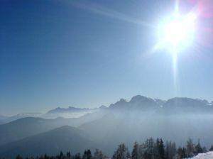 sonce v gorah